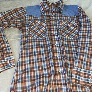 Rare Vintage Levi Western Pearl Snap Button Shirt